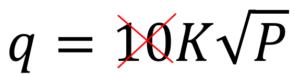 Формула Торричелли с k-фактором