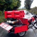 Пожарный ракетный многоствольный мотоцикл