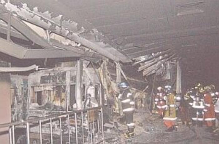 После пожара в метро