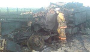 Сгоревшая пожарная автоцистерна