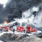 Тушение пожара под Киевом 2015