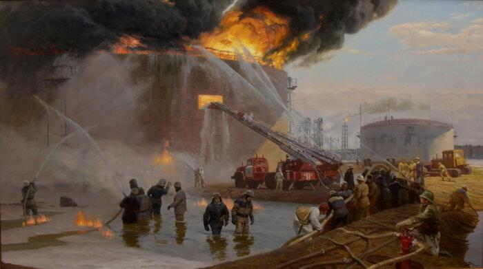 Тушение пожара в Киришах в 1986 году