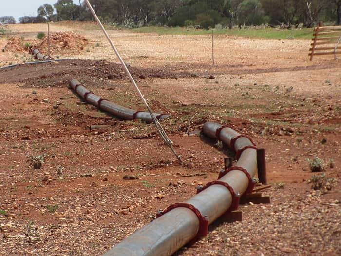 Трубопровод с грувлочными соединениями