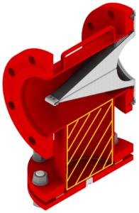 Пожарный универсальный фильтр в разрезе