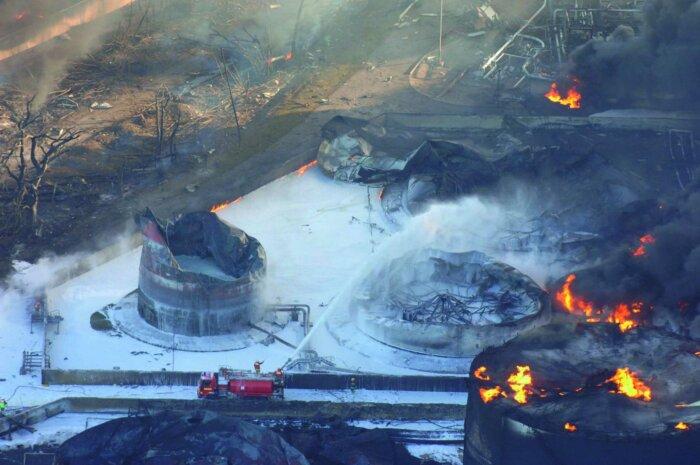 Пожар в резервуаре