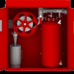 Пенный пожарный шкаф с эжекторным дозатором