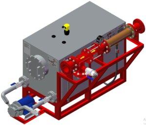 Трехмерная модель системы дозирования с одним эжектором