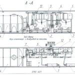 План и разрез автономного модуля СОПОТ